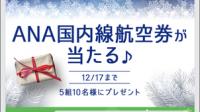 【キャンペーン】~2018.12.17 LINE「ANA 国内線旅行券」が5組10名に当たります